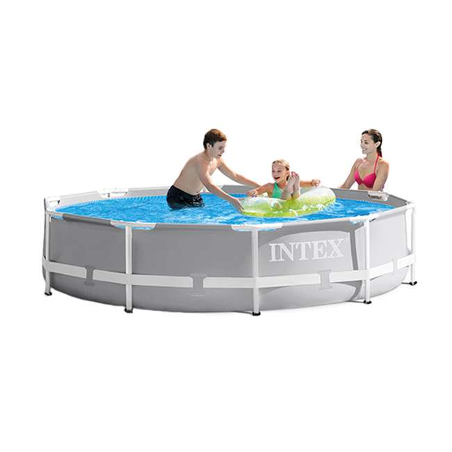 26701EH Intex 10ft x 10ft x 30in Pool w/ 10 Foot Round Pool Cover and Filter Cartridge 2