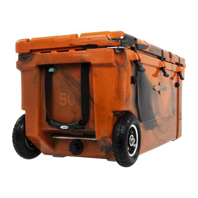 HC75-17OB WYLD 75 Quart Pioneer Dual Compartment Insulated Cooler w/ Wheels, Orange/Black 1