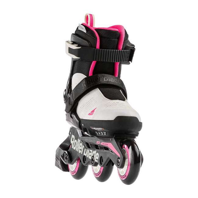 07065600500-2-5 Rollerblade Microblade 3WD Inline Adjustable Roller Skates for Kids, Gray & Pink 1