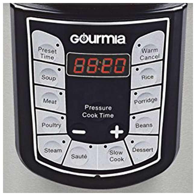 GPC400 Gourmia SmartPot 4 Quart Stainless Steel 13 Program Pressure Cooker, Stainless Steel 1