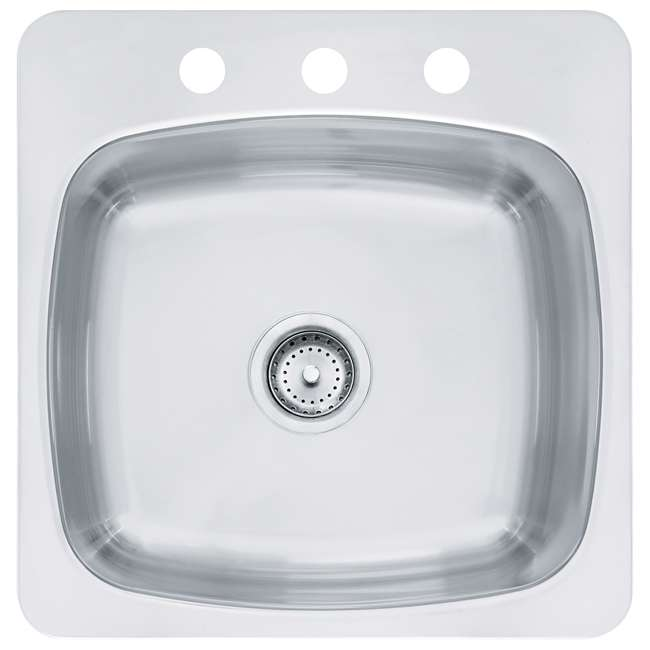 "SL103BX-OB Franke Axis 20"" x 20"" x 10""Undermount Single Bowl Kitchen Sink, Silver(OPEN BOX)"