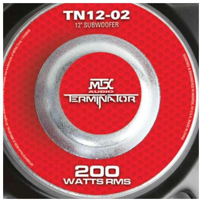 TN12-02 MTX TN12-02 12-Inch 400W Subwoofer TN1202 4