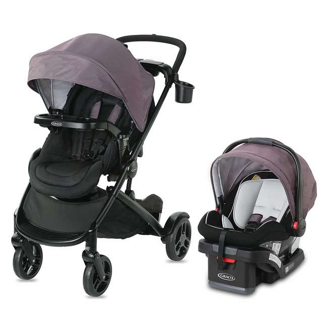 2080526 Graco Modes2Grow Baby Stroller & SnugRide Infant Car Seat Travel System, Kinley