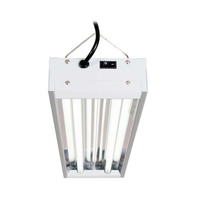 FLT22 Hydrofarm Agrobrite 48 Watt 2 Tube Fluorescent Fixture with Lamps (For Parts) 1