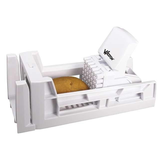 36-3301-W Weston Ratchet Style French Fry Cutter and Vegetable Dicer 6