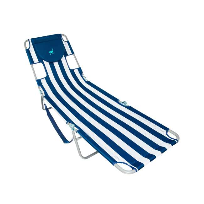 CHS-1002S Ostrich Chaise Lounge Folding Portable Sunbathing Beach Chair (2 Pack) 3