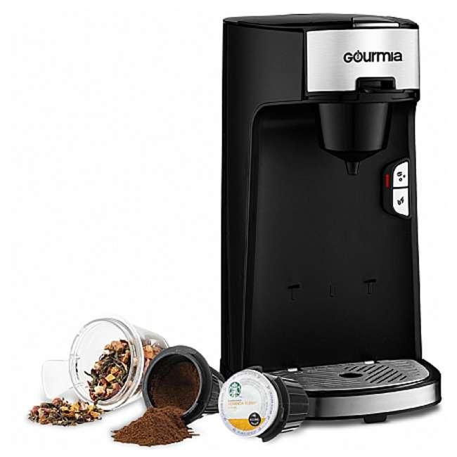 GCM3600 Gourmia Automated Single Serve Coffee and Tea Brewer and Capsule Machine, Black