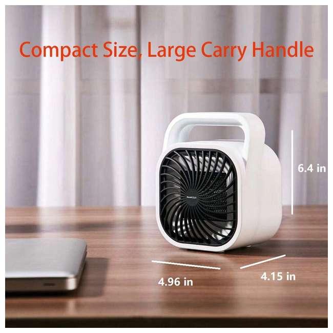 HA31-05E Geek Heat HA31-05E 500 Watt Mini Personal Portable Ceramic Fan Space Heater (2 Pack) 3