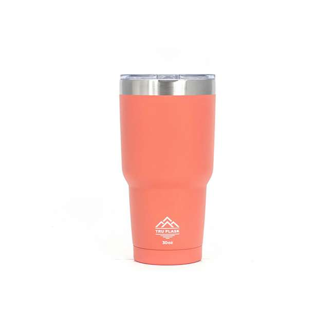 TF30-PEACH-U-A TruFlask Double Vacuum Insulated 30 oz Stainless Steel Tumbler, Peach (Open Box)