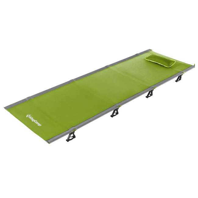KC398660040000 KingCamp Ultralight Compact Folding Camping Tent Cot Bed, 4.9 Pounds, Green