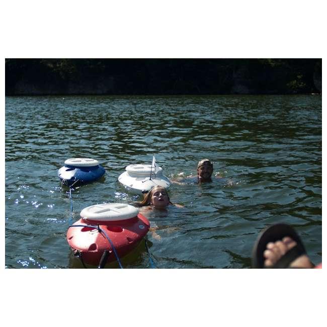 CK00210R CreekKooler Floating Insulated 30-Quart Beverage Cooler, Red 1