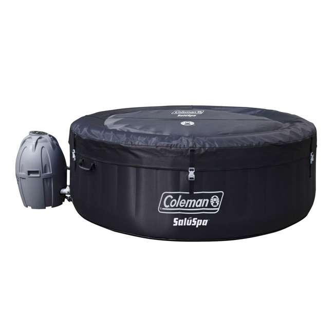 13804-BW Coleman SaluSpa Inflatable Hot Tub, Black  1