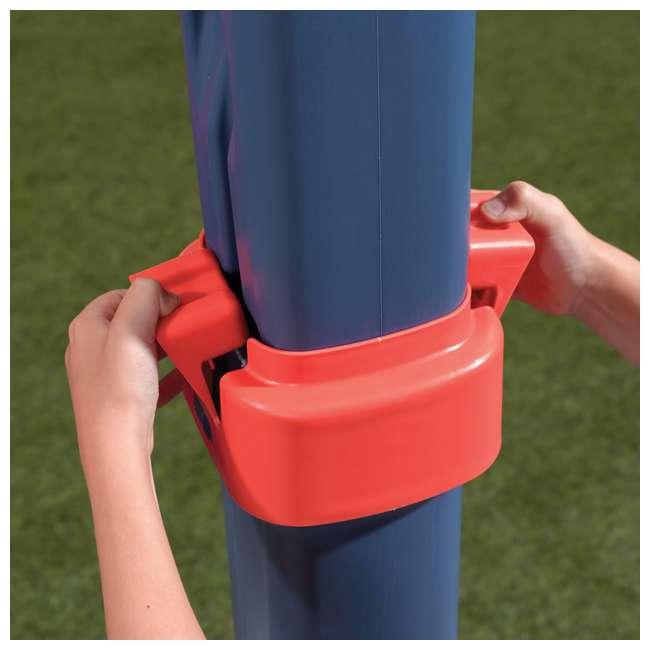 735700-U-B Step2 Durable Adjustable Child Pro Basketball Hoop and Ball, Blue (Used) 4