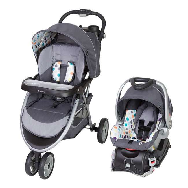 TS89B17A Baby Trend Skyview Plus Adjustable Baby Stroller and Car Seat Travel System, Ion