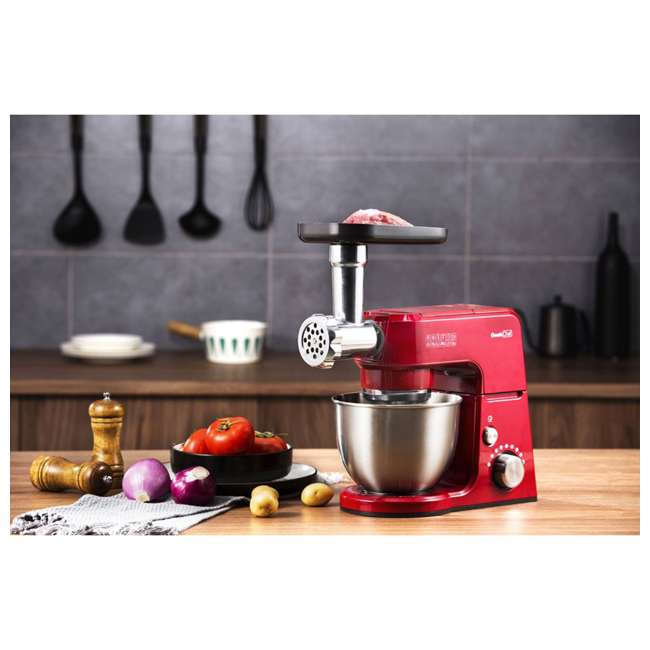 GMMN + GMFP Geek Chef Stand Mixer 2.6 Qt. Food Processor Chopper & Meat Grinder Attachments 5