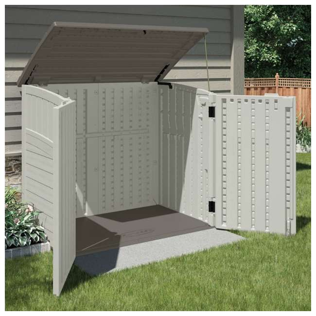 BMS2500-U-A Suncast 34 Cu. Ft. Resin Storage Shed w/Reinforced Floor  -  (Open Box) (2 Pack) 2