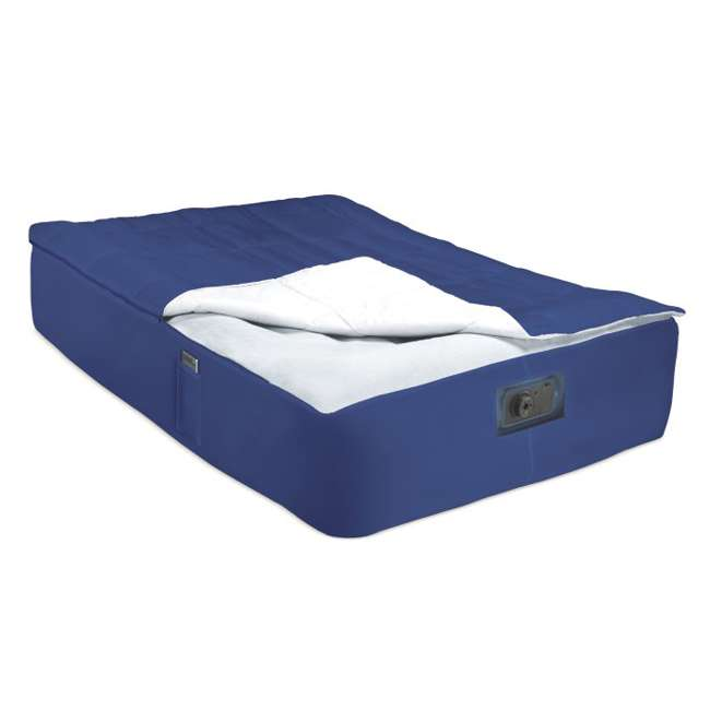 66709E + 5200029 INTEX Queen Raised Airbed with Pump & Blanket Cover 4