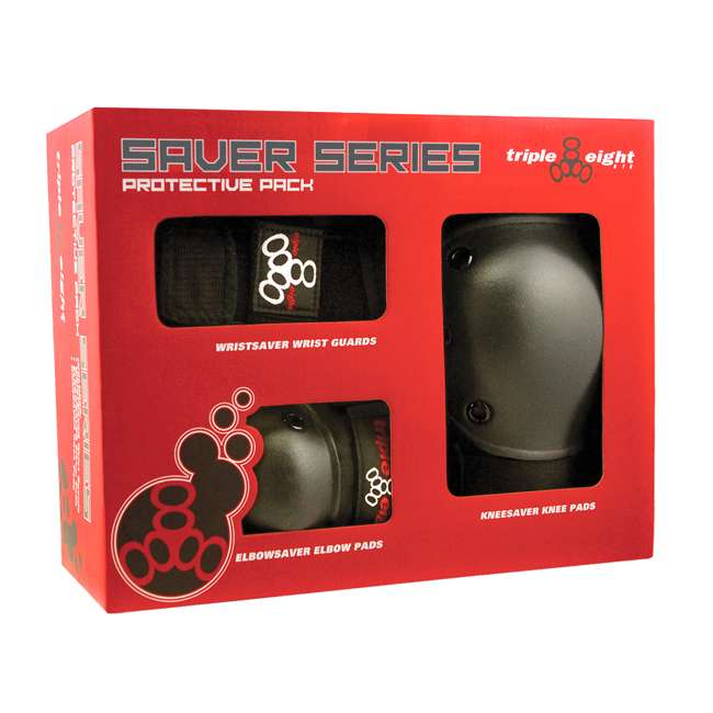 T8-604352-60013 Triple 8 Saver Series Wrist, Knees, & Elbows Protective Pads, Small