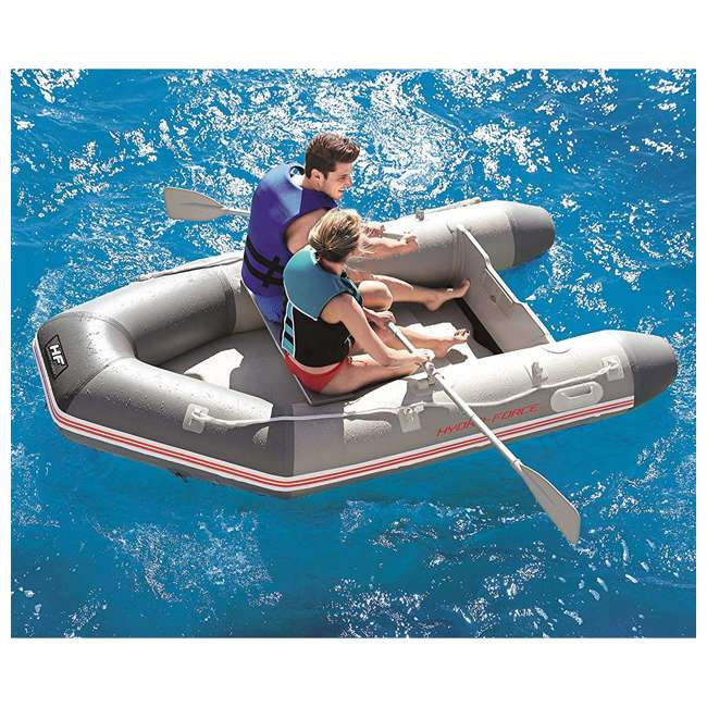 65047E-BW Bestway 110 Inch Caspian Pro Inflatable Boat Set with Oars and Pump (2 Pack) 5