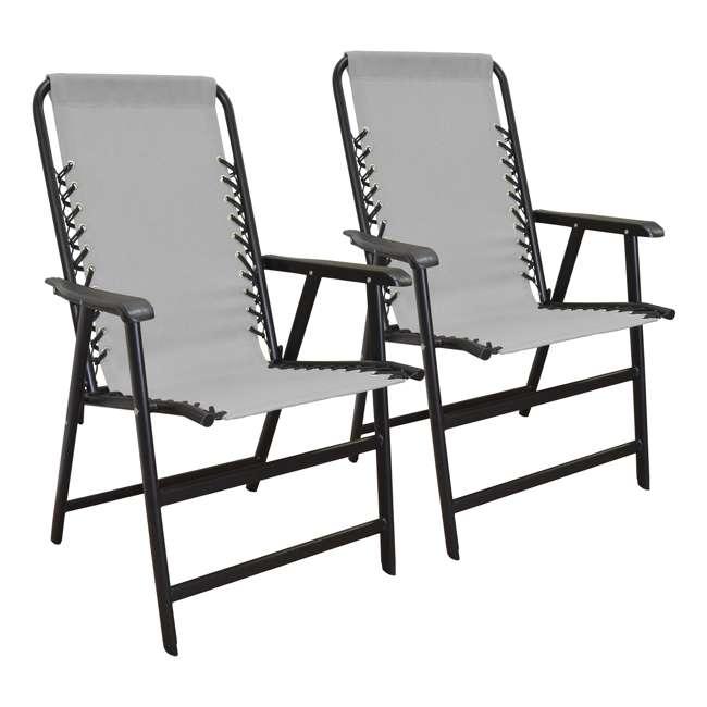 CVAN80012000122-2PK Caravan Canopy Infinity Suspension Folding Chair, Gray (2 Pack)