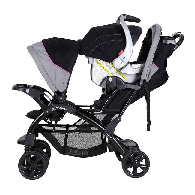 Baby Trend Sit N Stand Double Infant Stroller Millennium