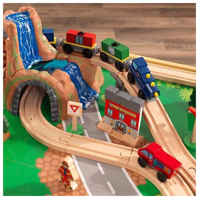 KDK-18025-U-A KidKraft Adventure Town Railway Play Set & Table w/ EZ Kraft Assembly (Open Box) 5