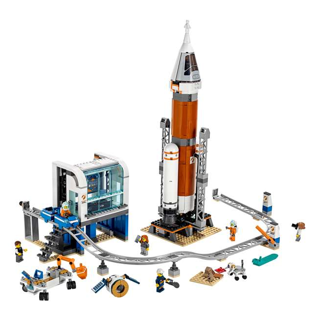 6251727 LEGO City Deep Space Rocket & Launch Control 837 Piece Building Set w/ 6 Minifig