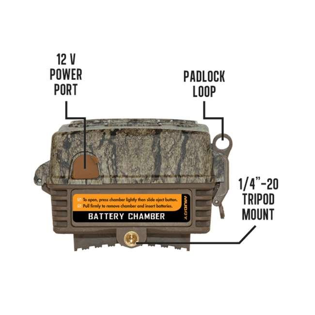 MUD-MTC600 Muddy Outdoors Pro Cam 20 MP LED Deer Hunting Trail Game Photo & Video Camera 3