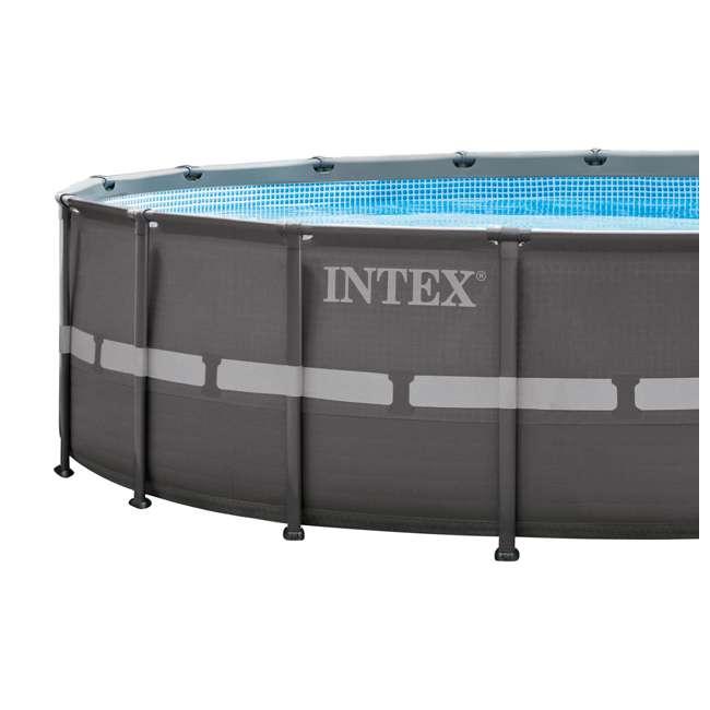 "26331EH + K816CBX Intex 18' x 52"" Ultra Frame Pool Set with 2100 GPH Sand Filter Pump & V-Trap Vac 10"