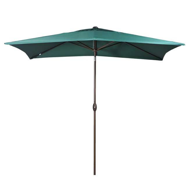 AP23386CTDG Abba Patio 6.6 x 9.8 Feet Outdoor Market Table Umbrella, Green