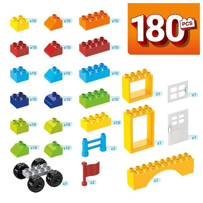 GJD22 Mega Bloks GJD22 Junior Builder Mini Bulk Tub 180 Piece Large Block Building Set 3