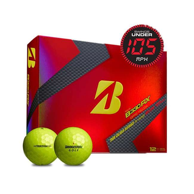 GDYX6D Bridgestone Tour B330-RX AMATOURcore Speed & Distance Yellow Golf Balls, 2 Dozen 2