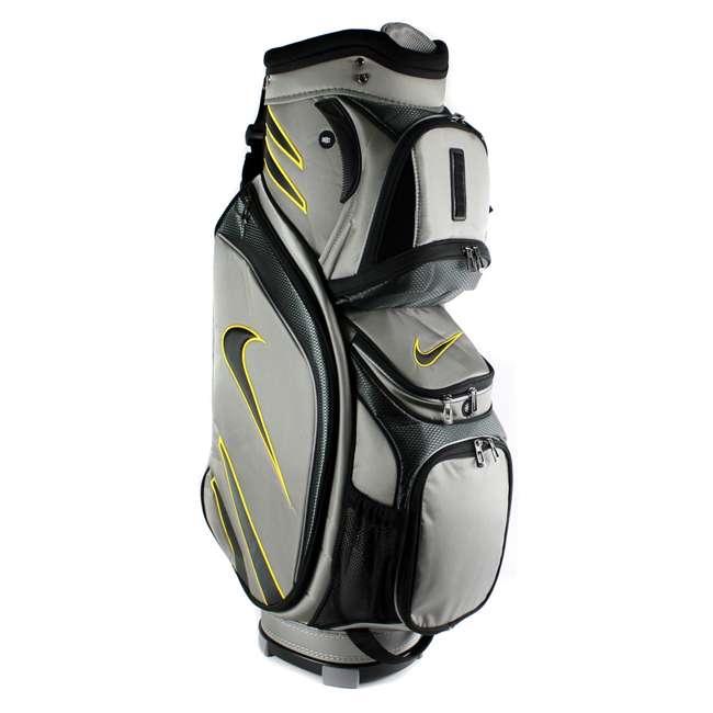 BG0218-017  Nike M9 Golf Bag Adult Cart Style Bag – 14 Way Top Divider Grey & Yellow Color