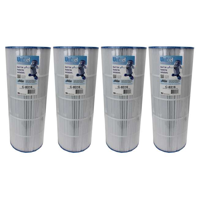 4 x C8316 4) Unicel 150 Sq Ft Replacement Spa Filter Cartridges | C-8316 (4 Pack)