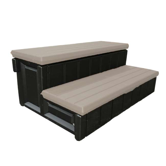6 x LASS36-SC-P Leisure Accents 36-Inch Long Spa Storage Steps (6 Pack) 1