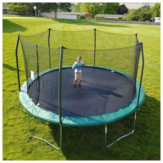 SWTC1511 Skywalker Trampolines 15 Foot Round Outdoor Trampoline & Safety Enclosure, Green 1