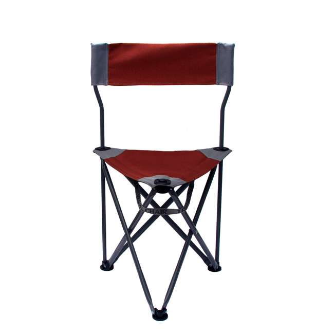 1489V2R TravelChair Ultimate Slacker 2.0 Portable Outdoor Folding Stool Seat Chair, Red