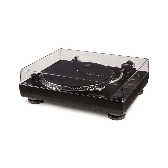 C200A-BK Crosley C200 2-Speed Preamp Record Player Turntable, Black