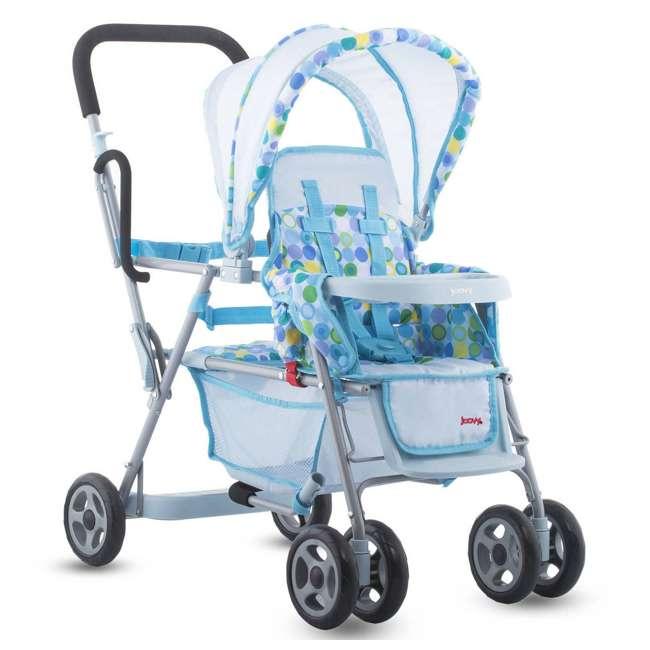 JVY-043 + JVY-003 Joovy Toy Doll Caboose Pretend Play Stroller & Car Seat, Blue Dot 2