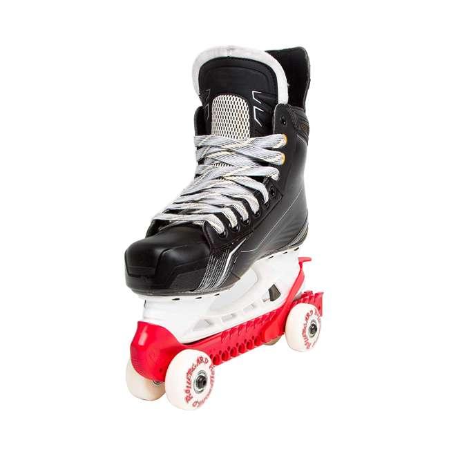 44374-R Rollergard 44374-R Adjustable Kids Ice Skate Guard & Roller Skate, Red (Pair) 2