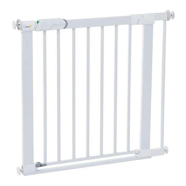 GA119WHO1 Safety 1st Flat Step Pressure Mounted Doorway Stairway Baby Safety Gate, White