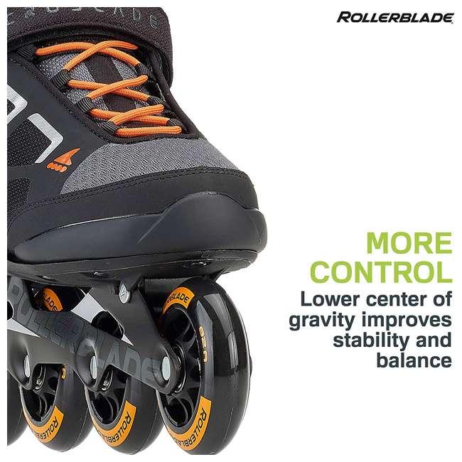 07847100956-8 Rollerblade Macroblade 80 Mens Adult Performance Inline Skates, Orange and Black 4