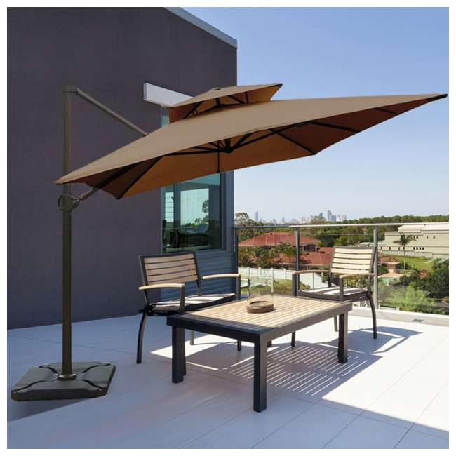 APNDRC912DT Abba Patio 9 x 12 Feet Rectangular Umbrella, Cocoa 1
