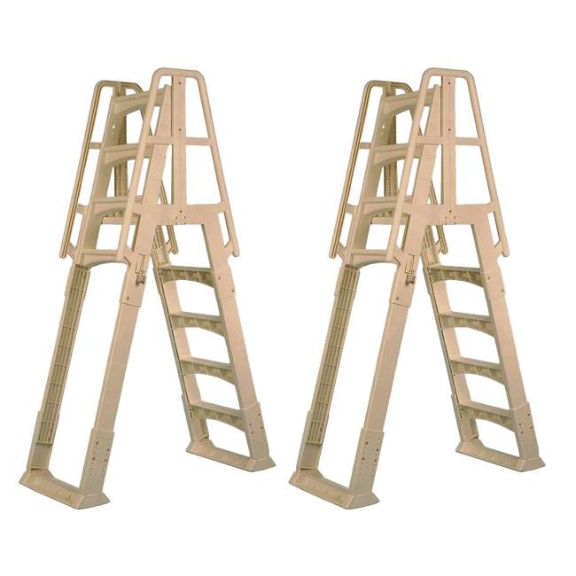 SLA-T Vinyl Works A-Frame Ladder for Pools 48-56 Inches Tall (2 Pack)