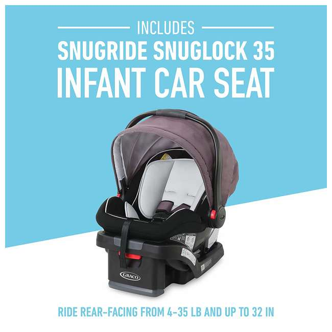 2080526 Graco Modes2Grow Baby Stroller & SnugRide Infant Car Seat Travel System, Kinley 5