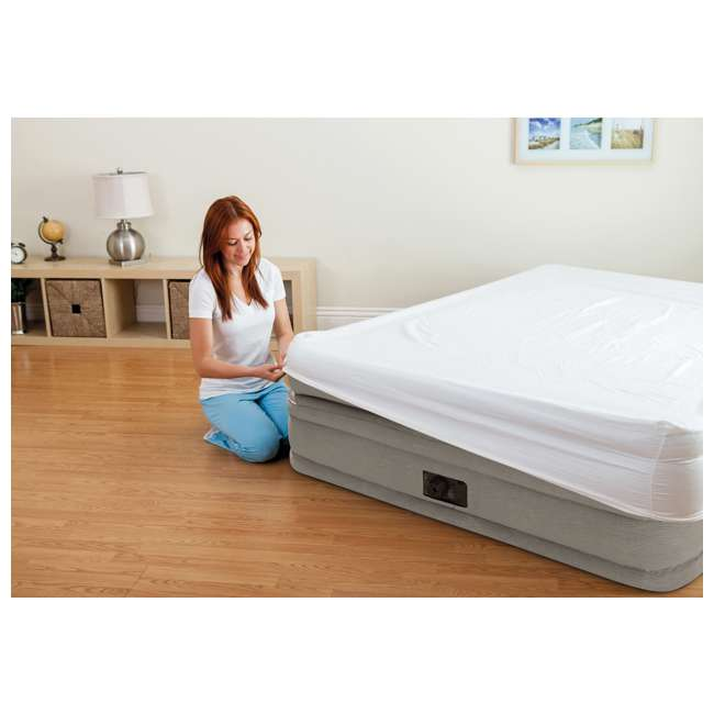 64445E Intex Prime Comfort Elevated Queen Airbed with Built-In Pump 7