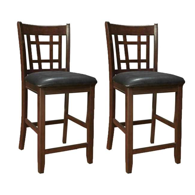 3 x 102889ii-PAIR Coaster Home Furnishings Lavon Hardwood Bar Stool, Black and Espresso (6 Pack) 1
