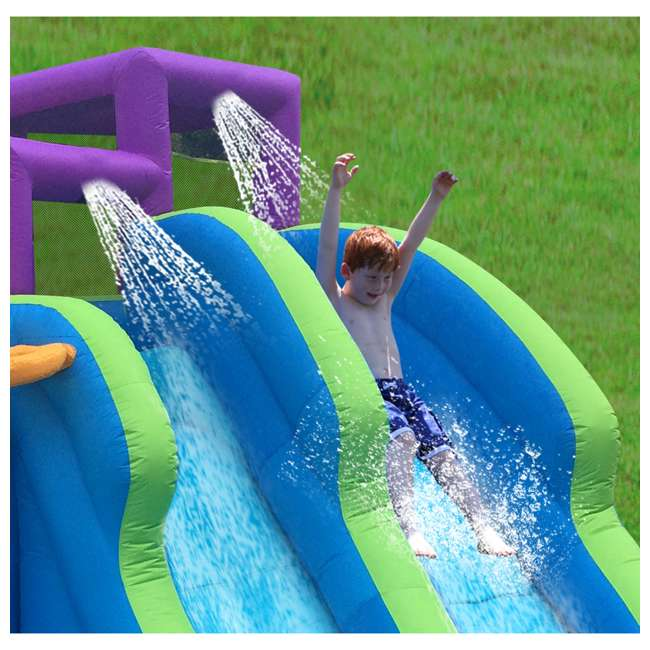 MTI-90717 RipTide Triple Fun Inflatable PVC Water Park with 3 Slides & Obstacle Course 9