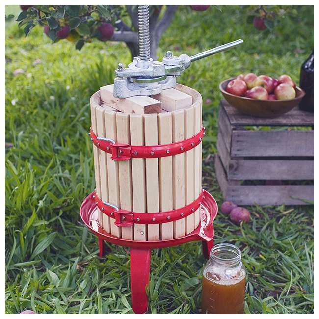 05-0101 Weston Cast-Iron and Wooden Home Juice and Wine Press 2