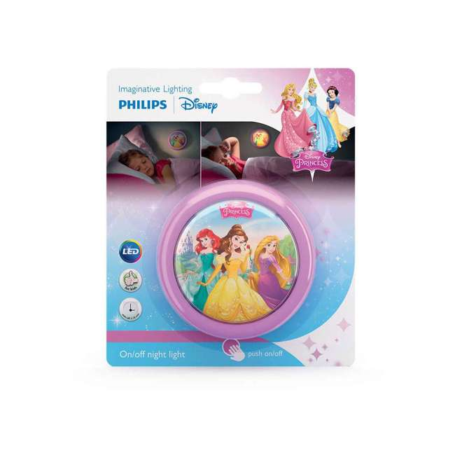 PLC-7192428U0 + 2 x PLC-7179628U0 Philips Disney LED Night Light w/ Philips Disney Princess Lamp (2 Pack) 4